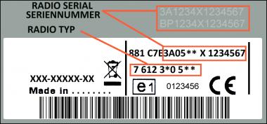 Blaupunkt BP0544 Ford Travelpilot FX LSRNS - 7 612 300 544 - 7612300544